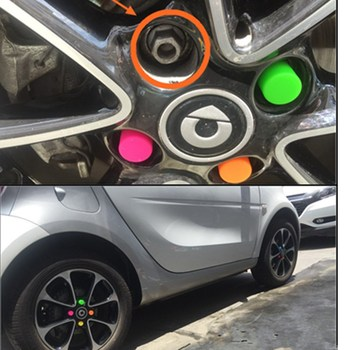 1 adet araba tekerlek silikon styling acessoories mercedes-benz SMART Fortwo forfour