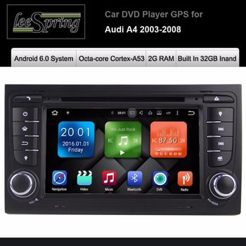 7 inç Android 6.0 Car DVD Player Audi A4/S4 2003-2008 Dokunmatik Ses Bluetooth Dash araba Stereo GPS Navigasyon