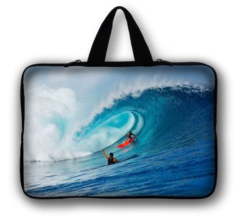 "Surfing 17"" 17.3 Inch Widescreen Laptop Notebook Case Carry Bag Pouch Sleeve Cover Waterproof"