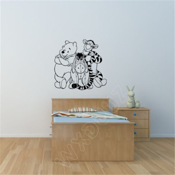 WXDUUZ Winnie the Pooh çocuk odası kreş playroom Decal Sticker Duvar Sticker Ev Dekorasyonu Vinil Bebek Dekor B45